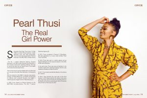 The Celebrity Shoot Mag issue 33 pearl thusi inner